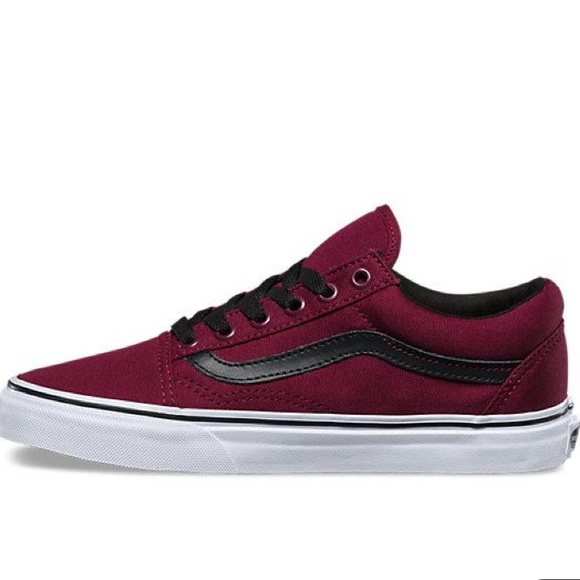 Vans Old Skool Windsor wine blk sneaker shoes NWT